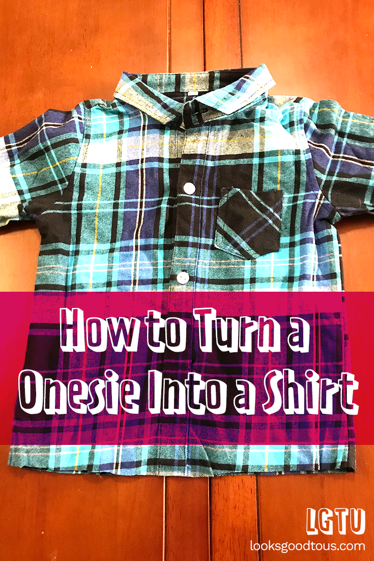 How to Quickly Turn a Kids Onesie into a T-Shirt