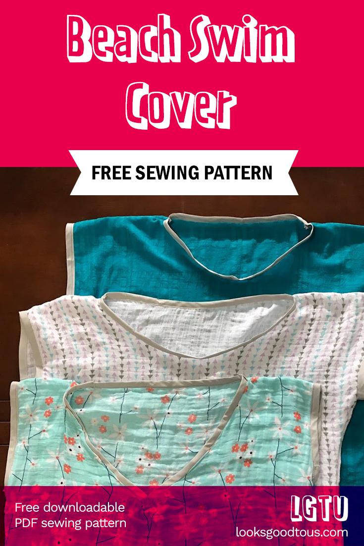 Cancun Trip Swim Cover Sewing Pattern