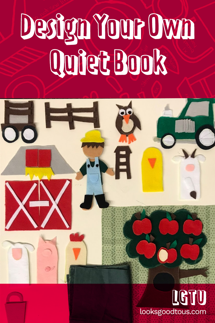 Quiet Book Page Tutorial: Farm, Barn, and Apple Tree