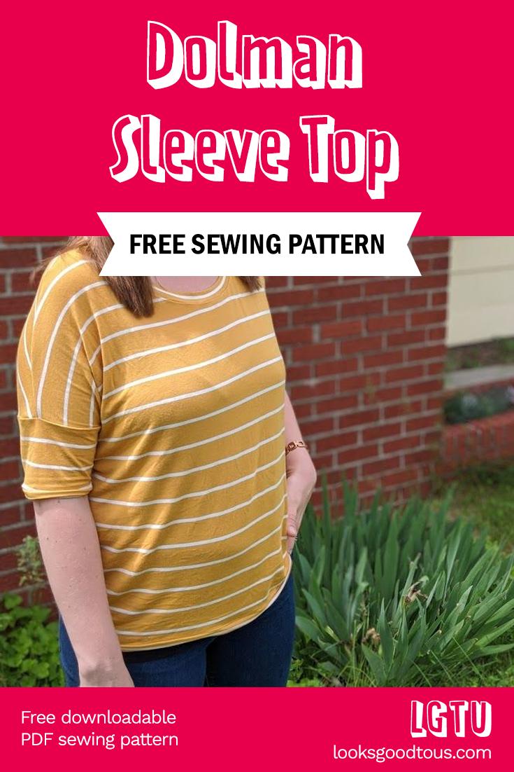 Free Download: DownEast Basics Dolman Sleeve Top Sewing Pattern