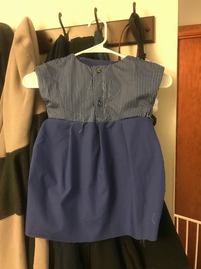 ReFashioning Baby Dresses from Men's Dress Shirts