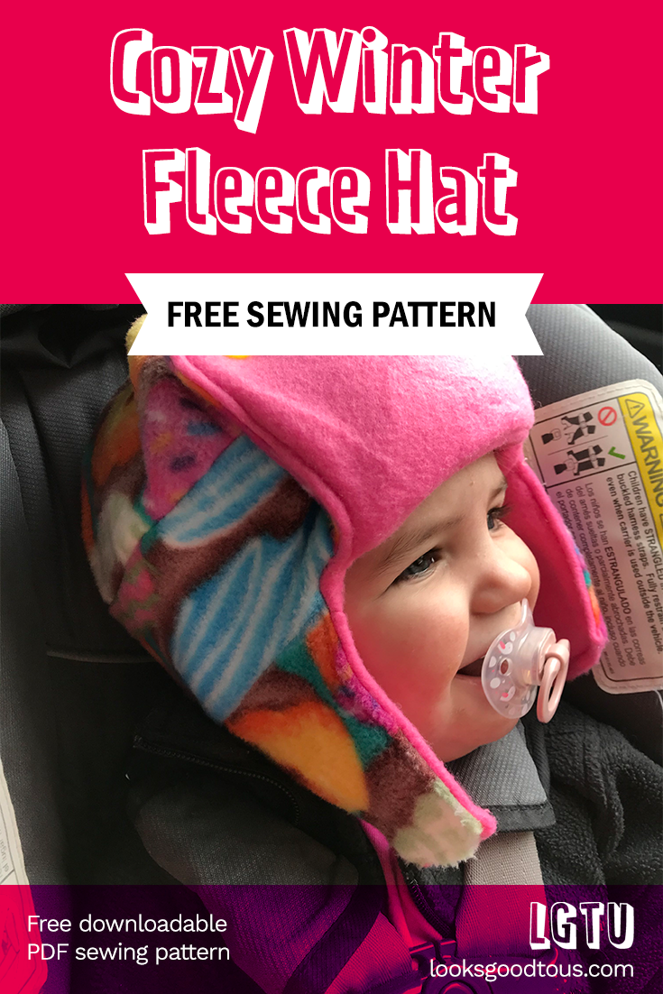 Cozy Winter Fleece Hat for Toddlers (with sewing pattern!)